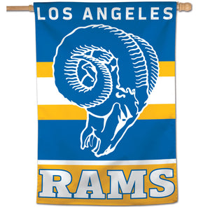 "Los Angeles Rams Retro Vertical Flag - 28""x40"""