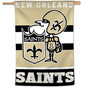 "New Orleans Saints Retro Vertical Flag - 28""x40"""