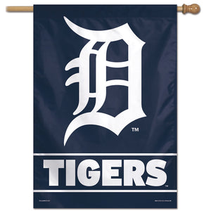"Detroit Tigers Wordmark Vertical Flag - 28""x40"""