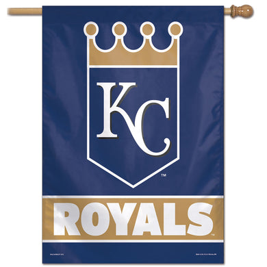 Kansas City Royals Wordmark Vertical Flag - 28