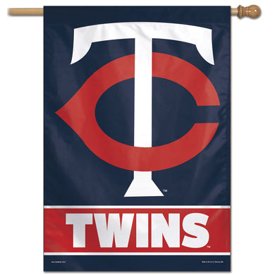 Minnesota Twins Wordmark Vertical Flag - 28