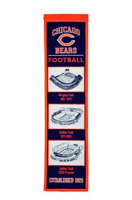 chicago bears stadium heritage banner