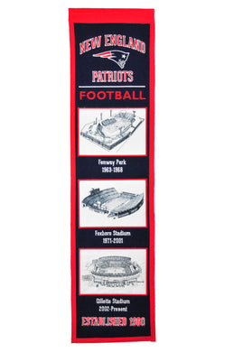 New England Patriots Stadium Evolution Heritage Banner - 8