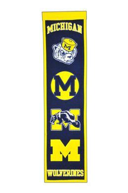Michigan Wolverines Heritage Banner - 8