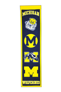 "Michigan Wolverines Heritage Banner - 8""x32"""