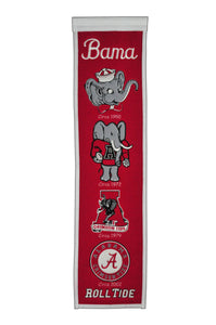 "NCAA fan gear Alabama Crimson 8""x32"" heritage banner from Sports Fanz"
