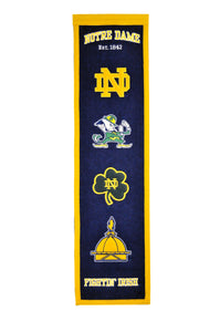 "Notre Dame Fighting Irish Heritage Banner - 8""x32"""