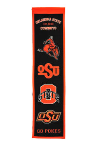 "Oklahoma State Cowboys Heritage Banner - 8""x32"""