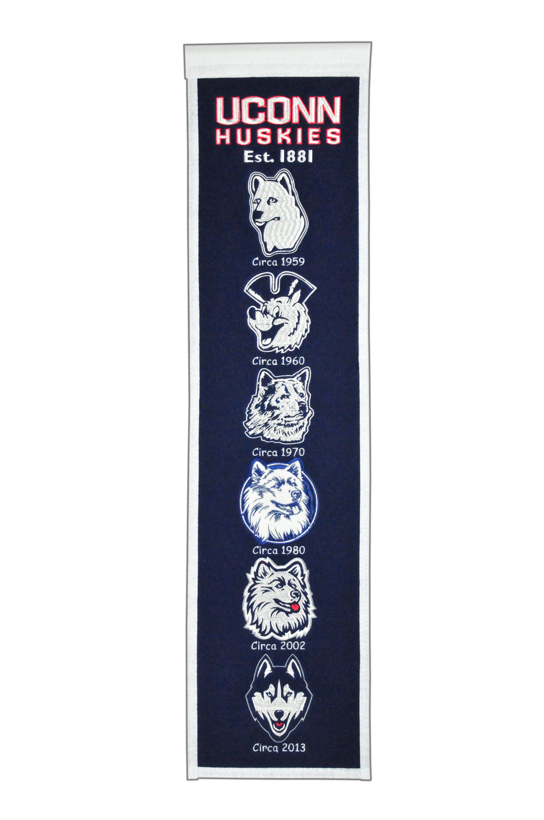Connecticut Huskies Heritage Banner - 8