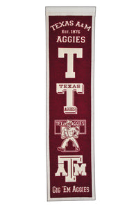 "Texas A&M Aggies Heritage Banner - 8""x32"""