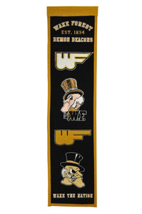 "Wake Forest Demon Deacons Heritage Banner - 8""x32"""