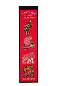 "Maryland Terapins Heritage Banner - 8""x32"""