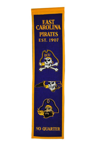 "East Carolina Pirates Heritage Banner - 8""x32"""