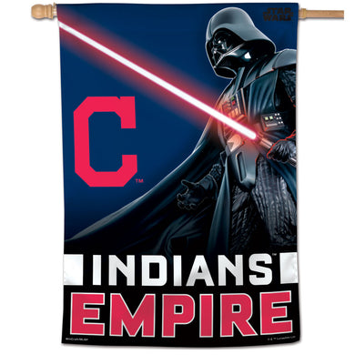 Cleveland Indians Star Wars Darth Vader Vertical Flag - 28