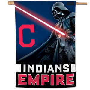 "Cleveland Indians Star Wars Darth Vader Vertical Flag - 28""x40"""