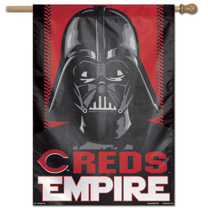 "Cincinnati Reds Star Wars Darth Vader Vertical Flag - 28""x40"""