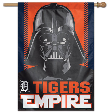 Detroit Tigers Star Wars Darth Vader Vertical Flag - 28
