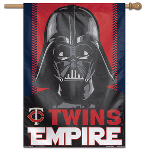 "Minnesota Twins  Star Wars Darth Vader Vertical Flag - 28""x40"""