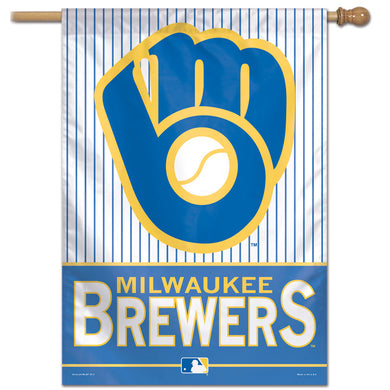 Milwaukee Brewers Wordmark Vertical Flag