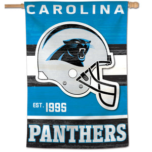 "Carolina Panthers Retro  Vertical Flag - 28""x40"""
