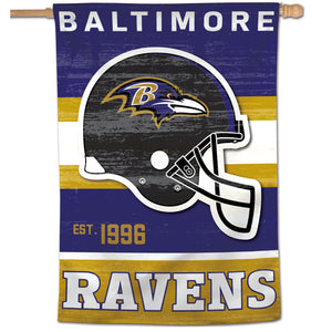 "Baltimore Ravens Retro Vertical Flag - 28""x40"""