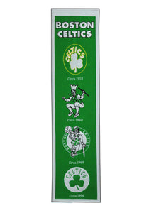 "Boston Celtics Heritage Wool Banner 8""x32"""