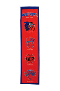 "New York Knicks Heritage Wool Banner 8""x32"""