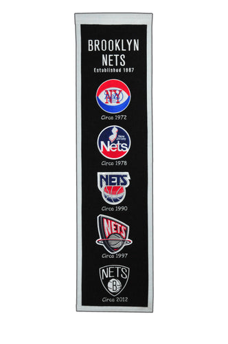 Brooklyn Nets Heritage Wool Banner 8