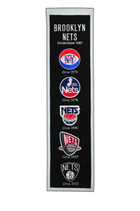 "Brooklyn Nets Heritage Wool Banner 8""x32"""