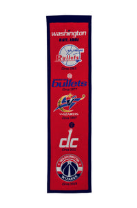 "Washington Wizards Heritage Wool Banner 8""x32"""