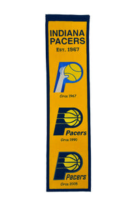 "Indiana Pacers Heritage Wool Banner 8""x32"""