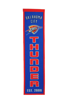 Oklahoma City Thunder Heritage Wool Banner 8