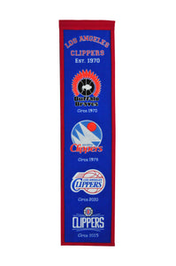 "Los Angeles Clippers Wool Banner 8""x32"""
