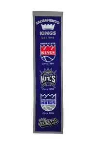 "Sacramento Kings Wool Banner 8""x32"""