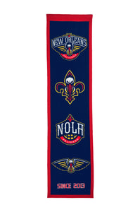 "New Orleans Pelicans Wool Banner 8""x32"""