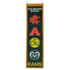 "Colorado State Rams Heritage Banner - 8""x32"""