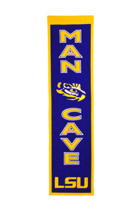 "LSU Tigers Man Cave Banner - 8""x32"""