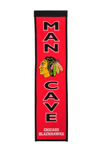 "Chicago Blackhawks Man Cave Banner - 8""x32"""