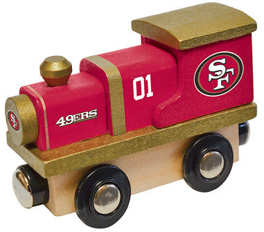 san francisco 49ers wood toy train