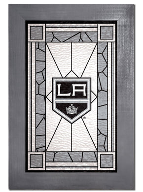 Los Angeles Kings Stained Glass Wood Sign