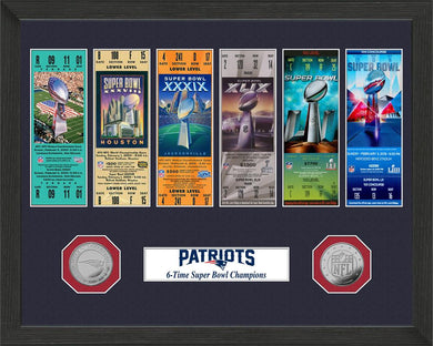 New England Patriots 6-Time Super Bowl Champions Ticket Collection