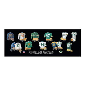 "Green Bay Packers Legacy Uniform Wood Plaque - 23.5""x8"""
