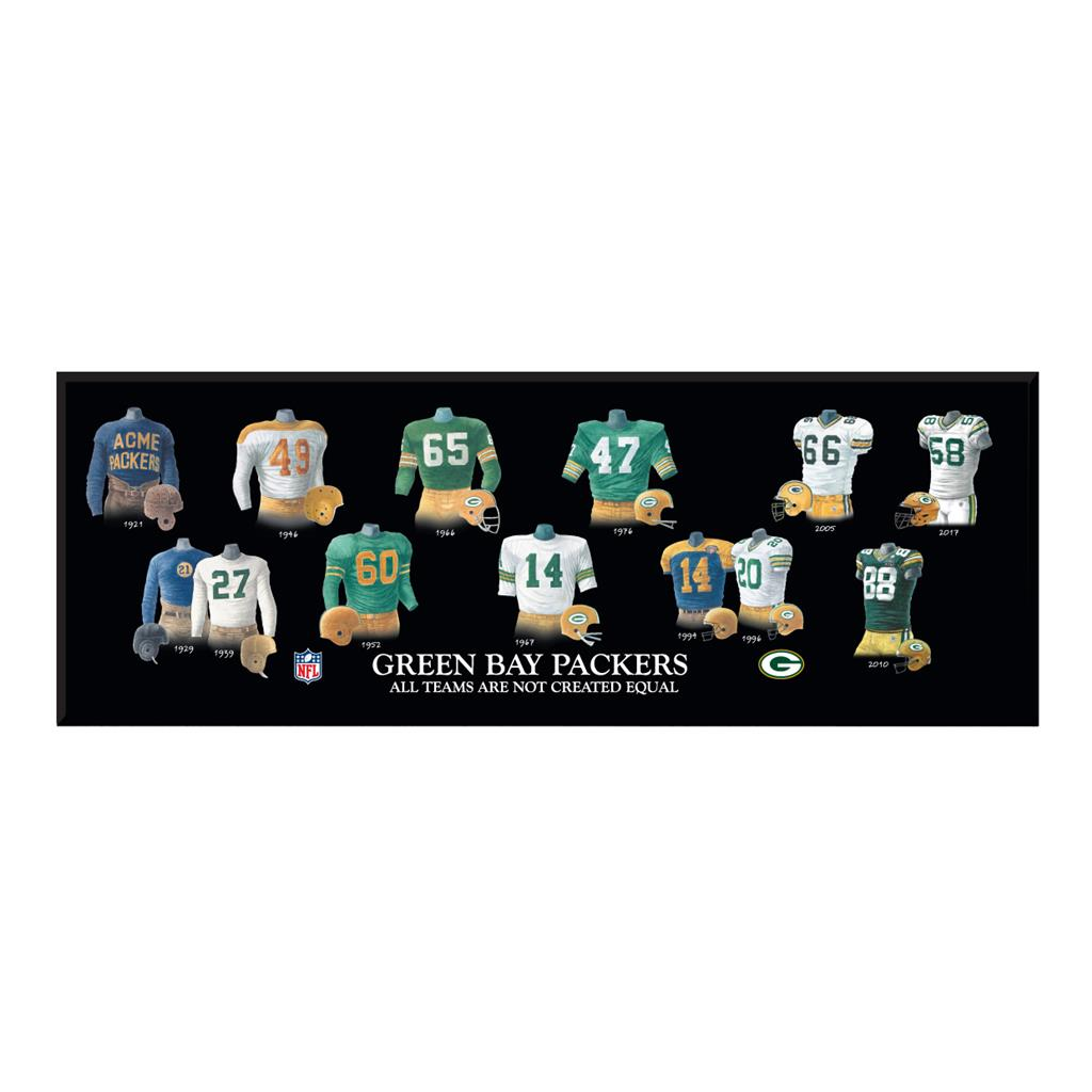 Green Bay Packers Legacy Uniform Wood Plaque - 23.5