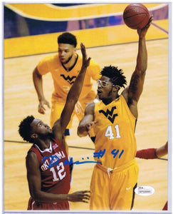 wvu basketball, devin williams autograph