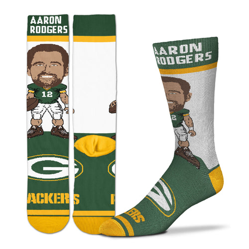 Aaron Rodgers Green Bay Packers Youth Socks
