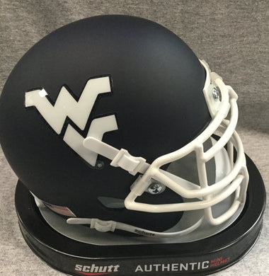 wvu football, wvu football blue helmet white facemask, white flying wv