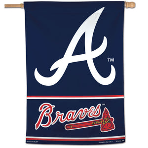 "Atlanta Braves Wordmark Vertical Flag - 28""x40"""