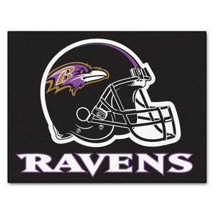 Baltimore Ravens All Star Fan Mat, NFL Floor Mat