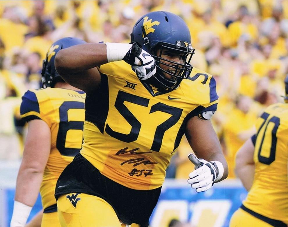 NCAA football memorabilia Adam Pankey WVU signed 8x10 photo from Sports Fanz