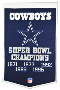 dallas cowboys super bowl dynasty wool banner